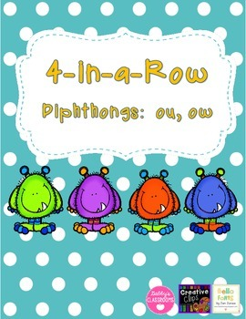 Diphthong 4-in-a-Row - ou, ow