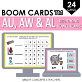 Diphthong AU, AW, AL Vowel Teams BOOM CARDS / Digital Task Cards