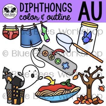 Diphthong AU Clip Art
