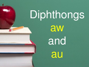 Diphthong AU and AW Flashcards