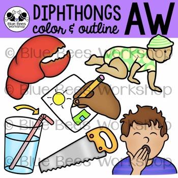 Diphthong AW Clip Art