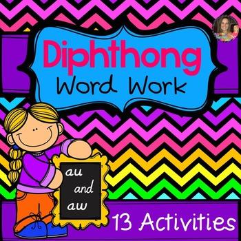 Diphthong Au/AW Word Work