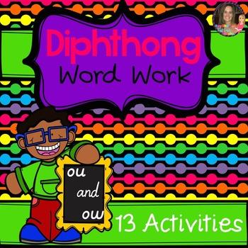 Diphthong OU/OW Word Work