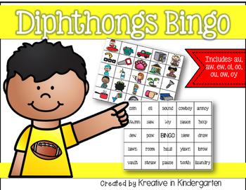 Diphthong Bingo