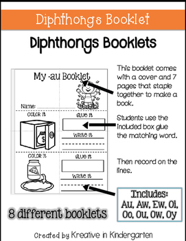 Diphthong Booklets