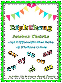 Diphthong Charts and Differentiated Phonics Cards