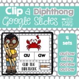 Diphthong Clip Activities using Google Slides and Classroom
