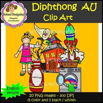 Diphthong Clip Art AU (School Designhcf)