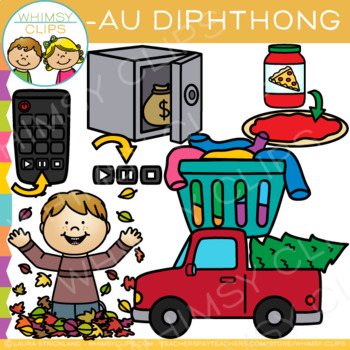 Diphthong Clip Art - AU Words