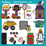 Diphthong Clip Art - AU Words