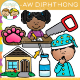 Diphthong Clip Art - AW Words