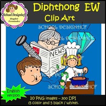 Diphthong Clip Art EW (School Designhcf)