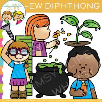 Diphthong Clip Art - EW Words