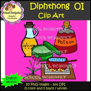 Diphthong Clip Art OI (School Designhcf)