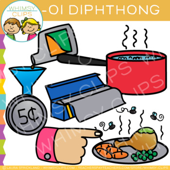 Diphthong Clip Art - OI Words