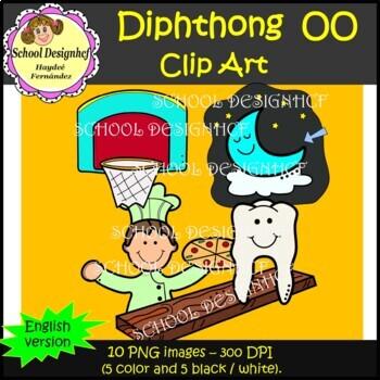 Diphthong  Clip Art OO (School Designhcf)