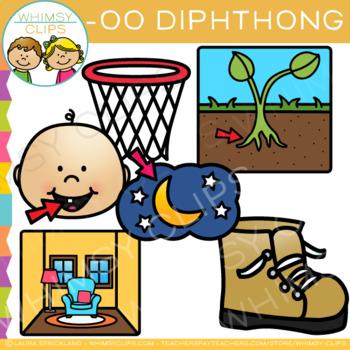 Diphthong Clip Art - OO Words