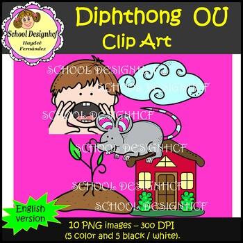 Diphthong Clip Art OU (School Designhcf)