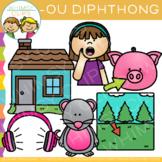 Diphthong Clip Art: OU Word Family Clip Art