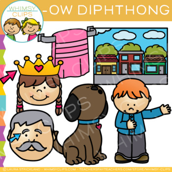 Diphthong Clip Art - OW Words