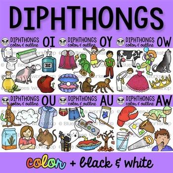 Diphthong Clip Art Bundle