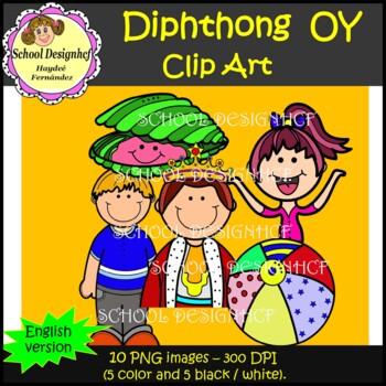 Diphthong Clip Art OY (School Designhcf)