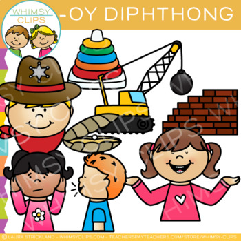 Diphthong Clip Art - OY Words