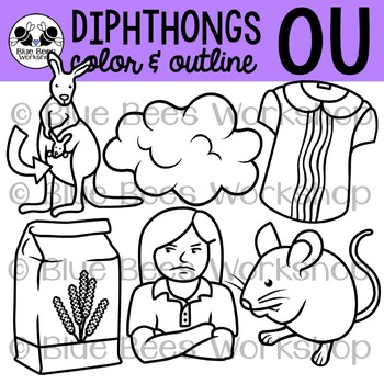 Diphthong OU Clip Art