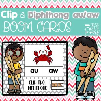 Diphthong Clip Mini BUNDLE DIGITAL Task BOOM CARDS