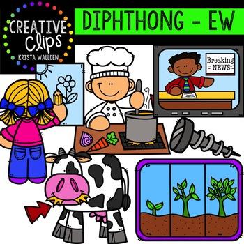 Diphthong Clipart: EW {Creative Clips Digital Clipart}