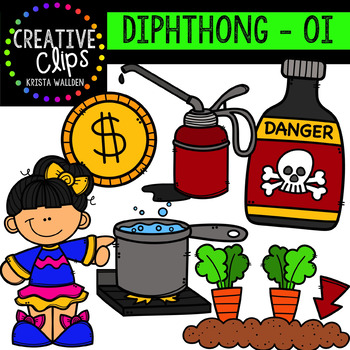 Diphthong Clipart: OI {Creative Clips Digital Clipart}