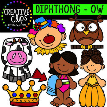 Diphthong Clipart: OW {Creative Clips Digital Clipart}