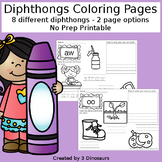 Diphthong Coloring Pages
