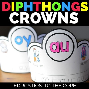 Diphthongs Crowns | Diphthongs Activities