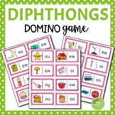 Diphthong DOMINO Puzzle Game (au, ew, aw, oo, oi, ou, oy, ow)