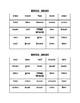 Diphthong/Digraph BINGO Game