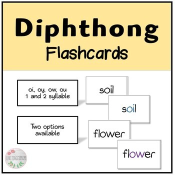 Diphthong Flashcards (oi, oy, ow, ou)