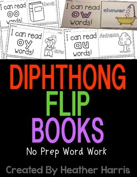 Diphthong Flip Books