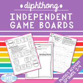 Phonics Word Work: Diphthong Independent Game Boards