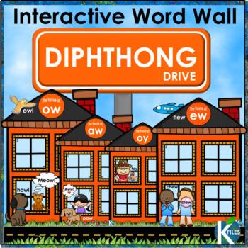 Diphthong Interactive Word Wall