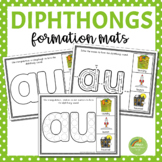 Diphthong Letter Formation Mats (au, ew, aw, oo, oi, ou, oy, ow)