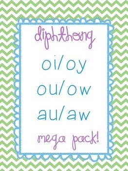 Diphthong MEGA Pack! oi/oy, au/aw, and ou/ow!