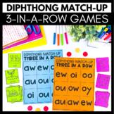 Diphthong Match-Up - 3 in a Row Games - Kindergarten Liter