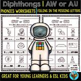 Diphthong No Prep Printables -AU- and -AW-