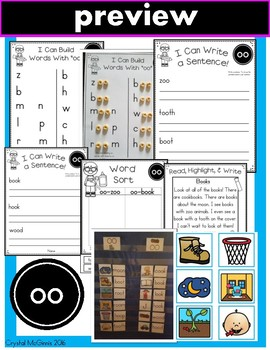 Diphthong OO Phonics Practice Printables and Activities (Both Sounds of OO)