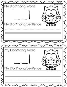 Diphthong OU and OW Writing Book