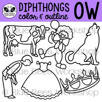 Diphthong OW Clip Art