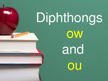 Diphthong OW and OU Flashcards