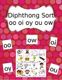 Diphthong Picture Sort (oo oy ow ou oi)