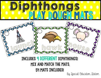Diphthong Play Dough Activity Mats